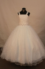 Exquisite Ball gown Strap Floor-Length Little Girl Pageant Dresses Style FA-Y-318
