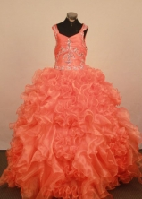 Exquisite Ball gown Strap Floor-Length Little Girl Pageant Dresses Style FA-Y-336