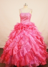 Exquisite Ball gown Strap Floor-length Flower Girl Dresses Style FA-C-158