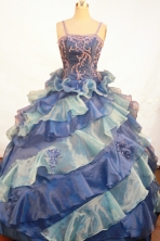 Exquisite Ball gown Strap Floor-length Litter Girl Dress Style FA-W-292