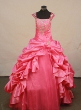 Fashionable Ball gown Strap Floor-Length Little Girl Pageant Dresses Style FA-Y-305