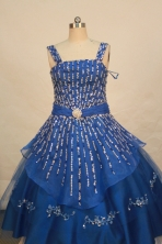 Fashionable Ball gown Strap Sweetheart-neck Floor-length Flower Girl Dresses Style FA-C-131