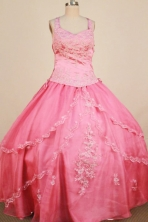 Formal Ball Gown Strap Floor-Length Little Organza Girl Pageant Dresses Style FA-Y-330
