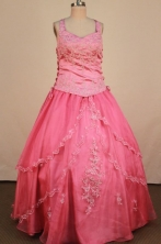 Formal Ball gown Strap Floor-Length Little Girl Pageant Dresses Style FA-Y-330