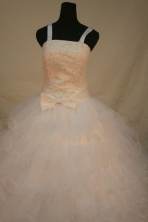 Gorgeous Ball gown Strap Floor-length Litter Girl Pageant Dress Style FA-W-296