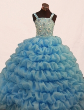 Gorgeous Ball gown Straps Floor-length Litter Girl Dress Style FA-W-298