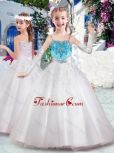 Latest Spaghetti Straps Flower Girl Dresses with Appliques and Bubles FGL292FOR