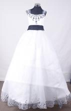Lovely Ball Gown Off The Shoulder Neckline Floor-Length Flower Girl Dress TD2403