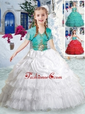 Lovely Halter Top Flower Girl Dresses with Ruffled Layers PAG284FOR