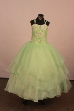 Low price Ball gown Strap Floor-Length Flower Girl Dress Style FA-Y-47
