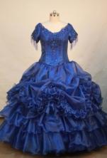 Luxurious Ball gown V-neck Floor-length Flower Girl Dresses Style FA-C-136