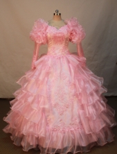Luxurious Ball gown V-neck Floor-length Flower Girl Dresses Style FA-C-154