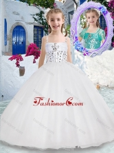 Luxurious Spaghetti Straps Ball Gown Flower Girl Dresses with Beading FGL295FOR