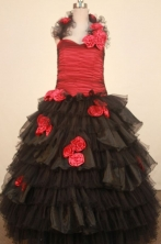 Modest Ball gown Halter top neck Floor-Length Little Girl Pageant Dresses Style FA-Y-341
