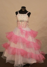 Modest Ball gown Strap Floor-Length Flower Girl Dress Style FA-Y-39