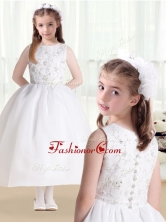 New Style Ball Gown Beading and Appliques Flower Girl Dresses    FGL261FOR
