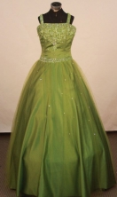 Perfect Ball gown Square neck Floor-Length Little Girl Pageant Dresses Style FA-Y-349