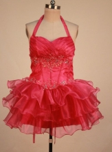 Perfect Short Halter top neck Mini-Length Little Girl Pageant Dresses Style FA-Y-346