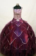 Popular Ball gown Square Neck Floor-length Flower Girl Dresses Style FA-C-144