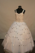 Popular Ball gown Strap Floor-Length Little Girl Pageant Dresses Style FA-Y-307