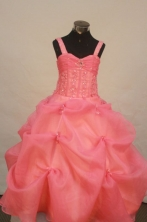 Popular Ball gown Strap Floor-Length Little Girl Pageant Dresses Style FA-Y-308