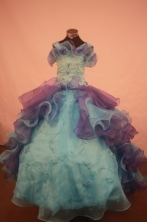 Popular Ball gown Strap Floor-Length Little Girl Pageant Dresses Style FA-Y-309