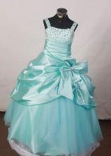Popular BallGown Straps Floor-Length Light Flower Girl Dresses Style FA-S-398