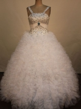 Pretty Ball gown Strap Floor-Length Little Girl Pageant Dresses Style FA-Y-353