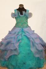 Pretty Ball gown Strap Floor-length Litter Girl Dress Style FA-W-299