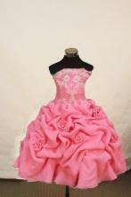 Romantic Ball gown Straples Floor-length Flower Girl Dresses Style FA-C-160