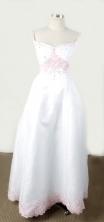 Simpel Empire Off The Shoulder Neckline Floor-Length White Appliques Flower Girl Dresses Style FA-S-209