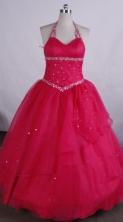 Simple Ball gown Halter top neck Floor-length Flower Girl Dresses Style FA-C-122