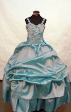 Simple Ball gown Strap Floor-length Flower Girl Dresses Style FA-C-134