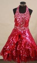 Sweet A-line Halter top neck Floor-length Flower Girl Dresses Style FA-C-147