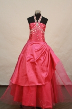 Sweet Ball gown Halter Top Neck Floor-length Flower Girl Dresses Style FA-C-133