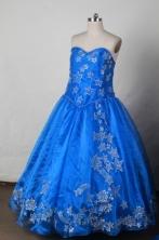 Sweet BallGown Sweetheart Neck Floor-Length Flower Girl Dresses Style FA-S-396