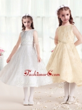 Sweet Princess Scoop Flower Girl Dresses in Lace FGL272FOR