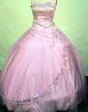Exquisite ball gown sweetheart-neck floor-length net appliques lavender quinceanera dresses FA-X-103