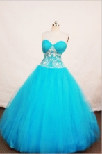 Affordable A-line Sweetheart Floor-length Quinceanera Dresses Appliques with Beading Style FA-Z-0063