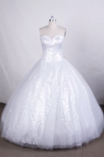 Beautiful A-line Sweetheart Floor-length Quinceanera Dresses Sequins Style FA-Z-0045