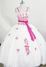 Beautiful Ball Gown Strap Floor-length Organza Quinceanera Dresses Style FA-C-084