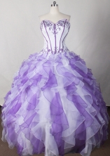 Beautiful Ball Gown Strapless Floor-length Quinceanera Dress LJ2626