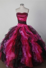 Beautiful Ball Gown Strapless Floor-length Quincenera Dresses TD26009