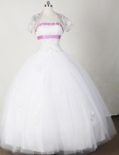 Beautiful Ball Gown Strapless Floor-length White Quinceanera Dress LJ2646