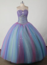 Beautiful Ball Gown Sweetheart Floor-length Quincenera Dresses TD260037