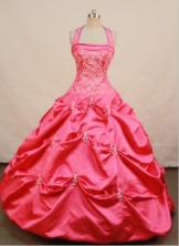 Beautiful Ball gown Halter topFloor-length Quinceanera Dresses Embroidery with Beading Style FA-Z-0065