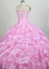 Beautiful Ball gown Strapless Floor-length Quinceanera Dresses Style FA-W-r65