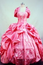 Beautiful Ball gown Strapless Floor-length Taffeta Waltermelon Quinceanera Dresses Style FA-C-094
