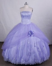 Beautiful Ball gown StraplessFloor-length Quinceanera Dresses Appliques Style FA-Z-0037