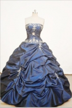 Beautiful Ball gown StraplessFloor-length Quinceanera Dresses Appliques with Beading Style FA-Z-0059